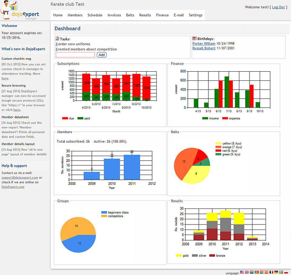 Software to manage your martial arts students